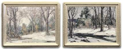 PR OF OIL/ CANVAS BY FRANK SWIFT CHASE,  WOODSTOCK