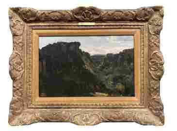 JEAN BAPTISTE CAMILLE COROT, OIL / PANEL (1796 - 1875)