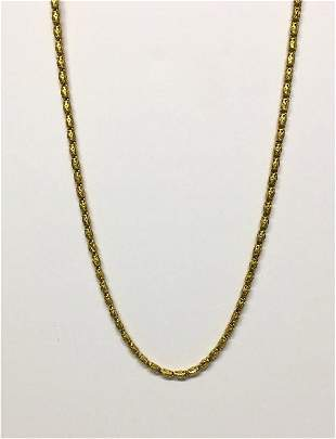 """24"""" YELLOW GOLD NECKLACE, TESTS 18KT APPROX. 29.1 DWT"""