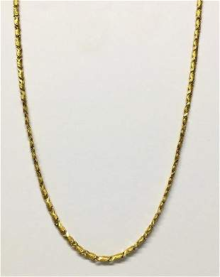 """18"""" YELLOW GOLD CHAIN NECKLACE, TESTS 18KT APPROX. 8.4"""