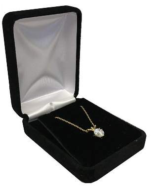 APPROX. 1.2 CARAT DIAMOND PENDANT NECKLACE IN YELLOW