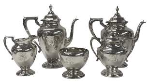 STERLING SILVER COFFEE & TEA SERVICE BY WALLACE 5