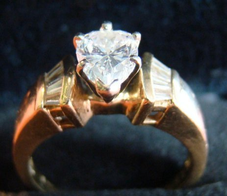 9: Marquis Shaped Diamond Ring In 14K Yellow Gold With