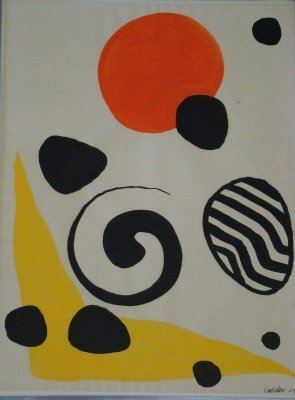 90: Gouache On Paper By Alexander Calder Signed & Dated