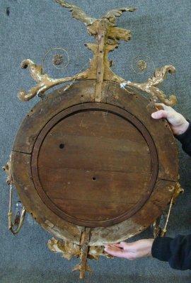 156: Late 18Th Century Bullseye Mirror With Eagle Crest - 5