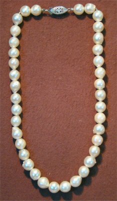 """2: 13"""" Choker Length Pearls, Pearls Approximately 8 1/2"""