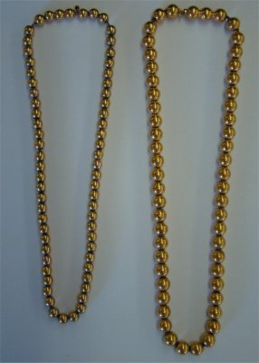 5: Two Strands Of 14K Yellow Gold Beads