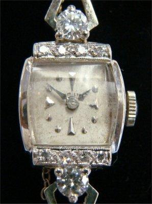 8: Ladies Hamilton Watch 2 1/4 Carat Diamonds & 33 Smal