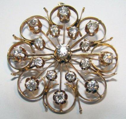 24: Diamond Cluster Brooch