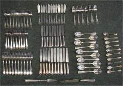 207 Partial Set Of Christofle Silver Plate Flatware