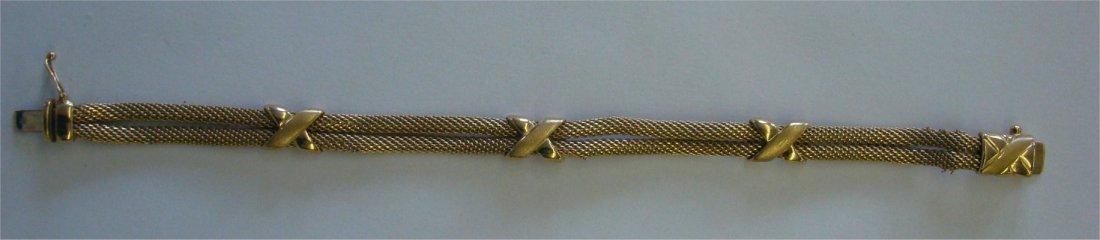 14: 14K Yellow Gold Mesh Bracelet, Italy