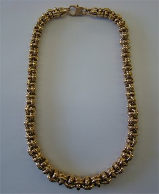 24: Italian 14K Gold Rope Chain Necklace