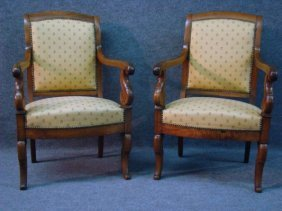 13: Pair Of French  Fauteuils