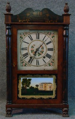 74: C.1825 Connecticut Shelf Clock By Jerome & Darrow,