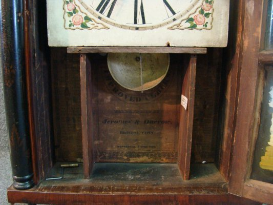 74: C.1825 Connecticut Shelf Clock By Jerome & Darrow,  - 5