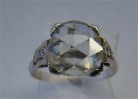 Approximately 2.5 Carat Rose Cut Diamond With Six Sm