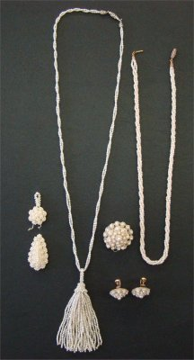 18: Seed Pearls Including:  Two Necklaces, Pair Of Earr