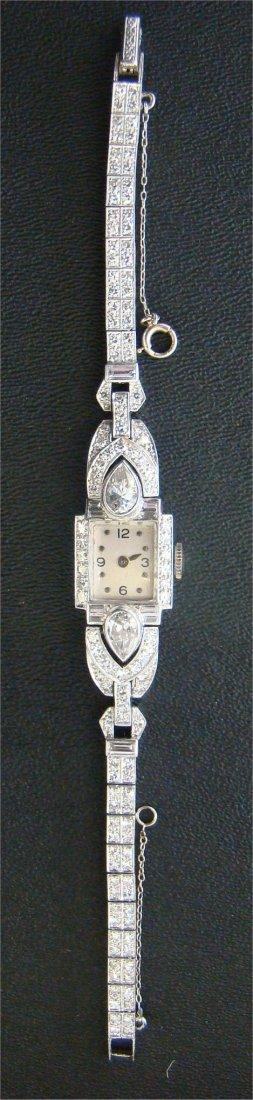 20: Ladies Diamond & Platinum Wristwatch
