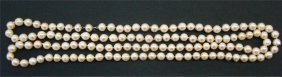 """22: Opera Length Pearls, Approximately 47 1/2"""" Long"""
