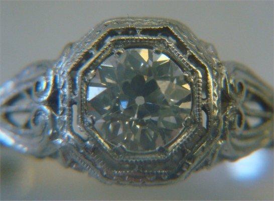 23: Diamond Solitaire In Platinum Filigree Setting