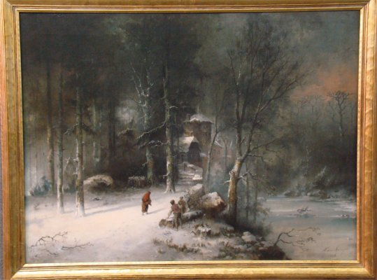 """138: Oil On Canvas 19Th Century """"Russian Winter"""" Signed"""