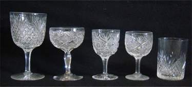 401: 40 Pieces Of Crystal Stemware & Tumblers Including