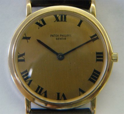 Patek Philippe Wristwatch With Brown Leather Strap