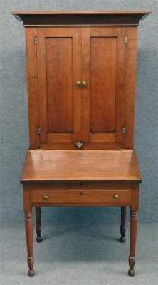- 19Th Century Cherry Plantation Desk, 73 3/4
