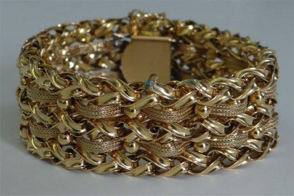14K Yellow Gold Bracelet, Approximately 47 Dwt