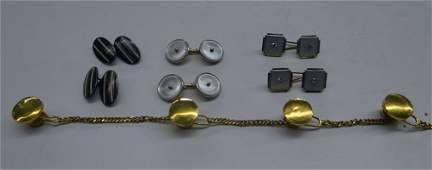 Cuff Links & Gold Tipped Studs