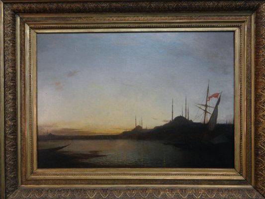 """Oil On Canvas """"Constantinople"""" Signed Amedee Rosier"""