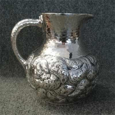 Whiting Sterling Silver Hand Chased Pitcher