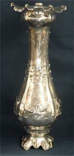 """Sterling Silver By Gorham """"Martele"""" Pattern Vase, .950"""