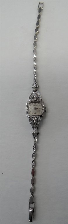 LADIES HAMILTON DIAMOND  WATCH IN 14K WHITE GOLD