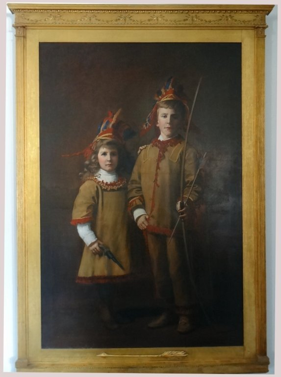 DOUBLE PORTRAIT OF CHILDREN BY A.S HOWLAND