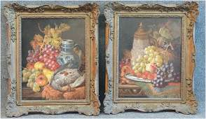 PR OF O/C STILL LIFE PAINTINGS SGND C.T. BALE