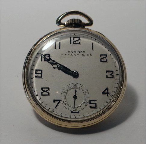 LONGINES TIFFANY & CO. GOLD FILLED POCKET WATCH