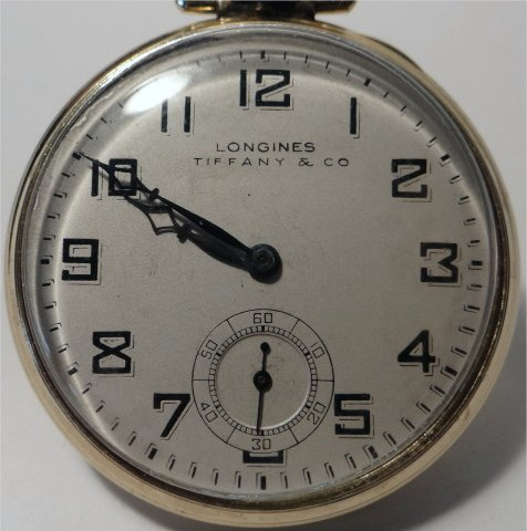 LONGINES TIFFANY & CO. GOLD FILLED POCKET WATCH - 2