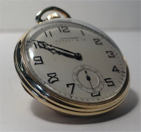 LONGINES TIFFANY & CO. GOLD FILLED POCKET WATCH - 3