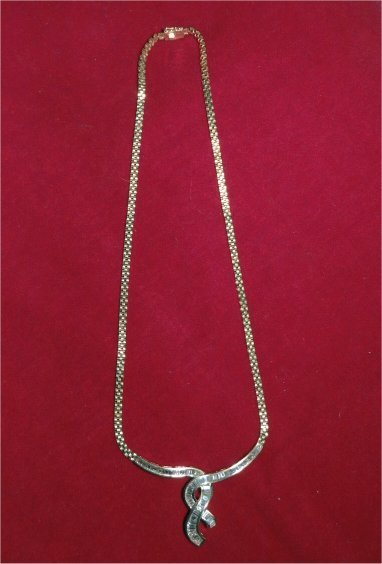 CONTEMPORARY CHANNEL CUT DIAMOND NECKLACE IN 14K