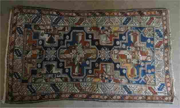 SEMI ANTIQUE PERSIAN/KURDISH  AREA RUG
