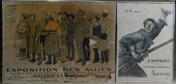2 VINTAGE FRENCH WWI POSTERS