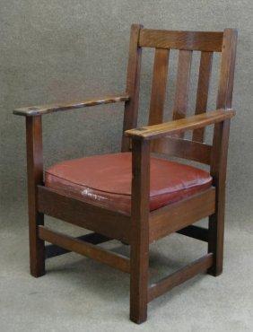 Limbert Mission Oak Arm Chair