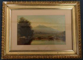 "O/bd ""white Mtn Scenery"" 19thc. Unsgnd"