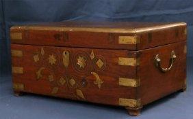 Mahogany W/ Brass Inlaid Campaign Box