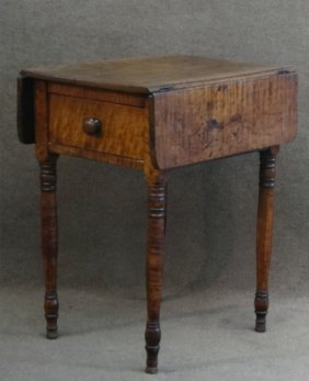 Tiger Maple Dropleaf Stand C.1820's