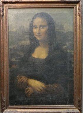 """O/c After Leonardo Da Vinci """"mona Lisa"""""""