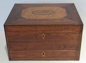 Inlaid Regency Work Box / Writing Desk