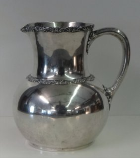 "Theodore Starr, Ny 3 1/2"" Pint Sterling Pitcher"