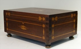 Inlaid Dovetailed Black Walnut Storage Box